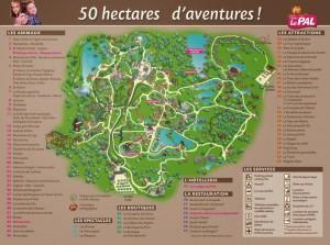 Le Pal plan du parc