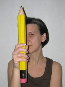 nadia coste portrait crayon