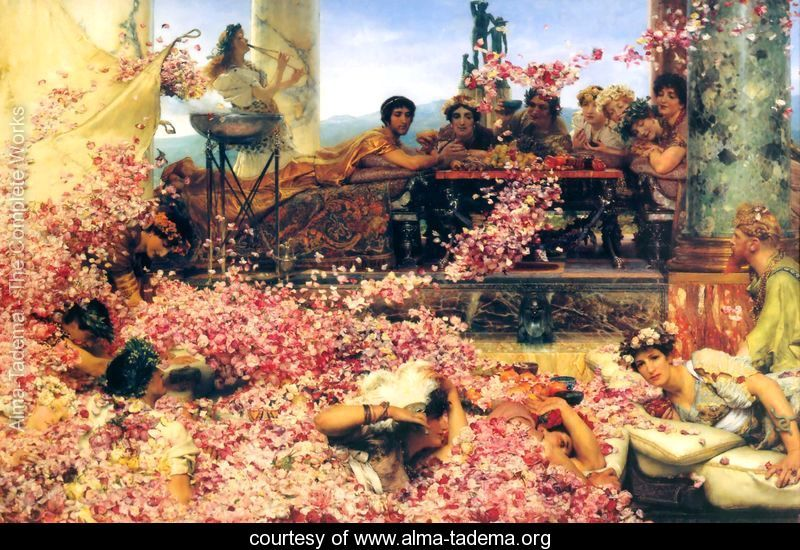 Lawrence Alma Tadema, The Roses of Heliogabalus, 1888.