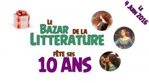 Bannière 10 ans Bazar de la Littérature