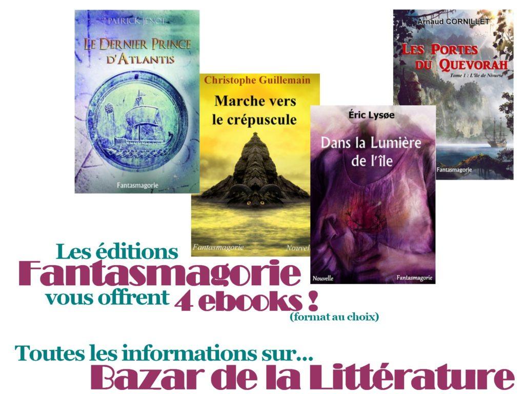 concours 10 ans bazar de la litterature éditions fantasmagorie 4 ebooks