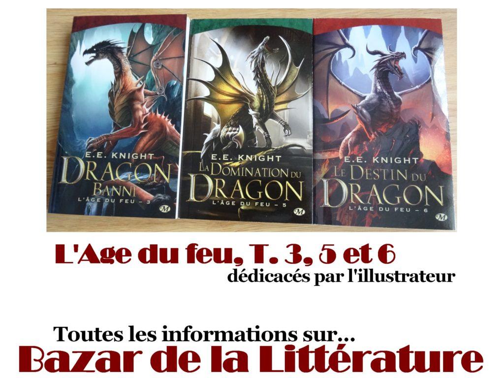 concours 10 ans bazar de la litterature e e knight l'age de feu tomes 3 5 et 6