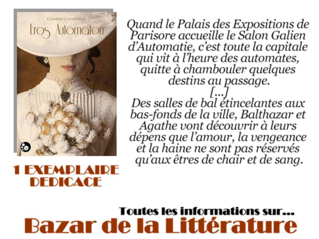 concours 10 ans bazar de la litterature eros automaton clemence godefroy