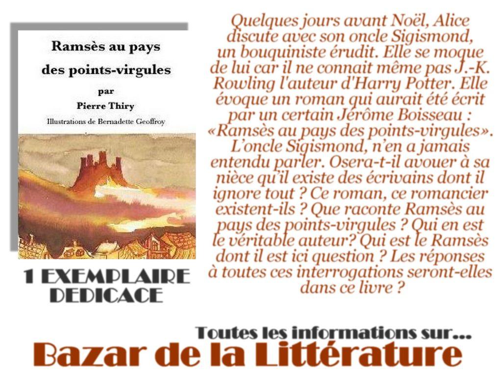 concours 10 ans bazar de la litterature ramses au pays des points virgules pierre thiry